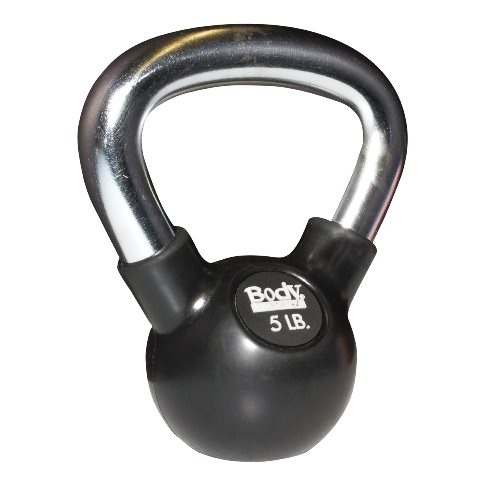 Body Sport BDSRSKB18 Rubber Steel Kettle Bell 18 lbs