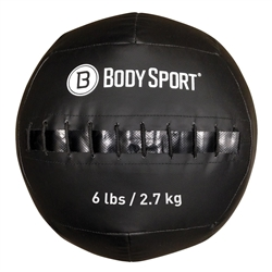Body Sport ZZRMB06WB 6 lbs Wall Ball Black