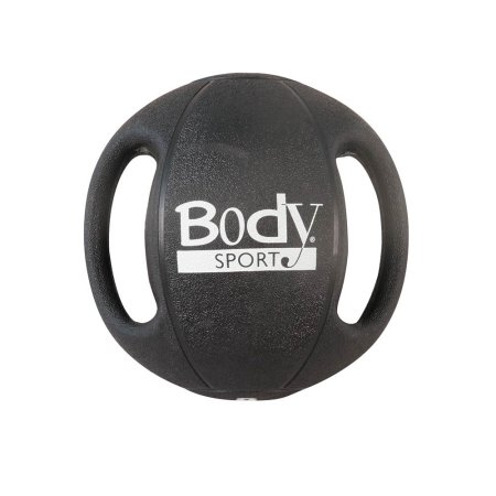 Body Sport ZZRMB16DG 16 lbs Double Grip Medicine Ball Black