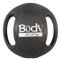Body Sport ZZRMB18DG 18 lbs Double Grip Medicine Ball Black