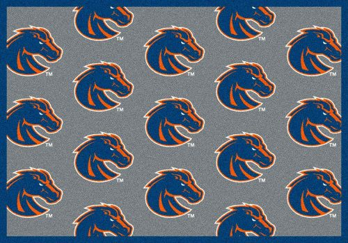 "Boise State Broncos 3' 10"" x 5' 4"" Team Repeat Area Rug"