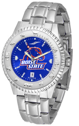 Boise State Broncos Competitor AnoChrome Men's Watch with Steel Band