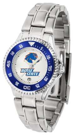 Boise State Broncos Competitor Ladies Watch with Steel Band