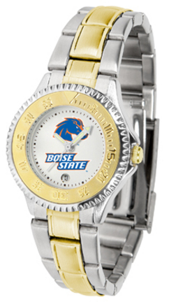 Boise State Broncos Competitor Ladies Watch with Two-Tone Band