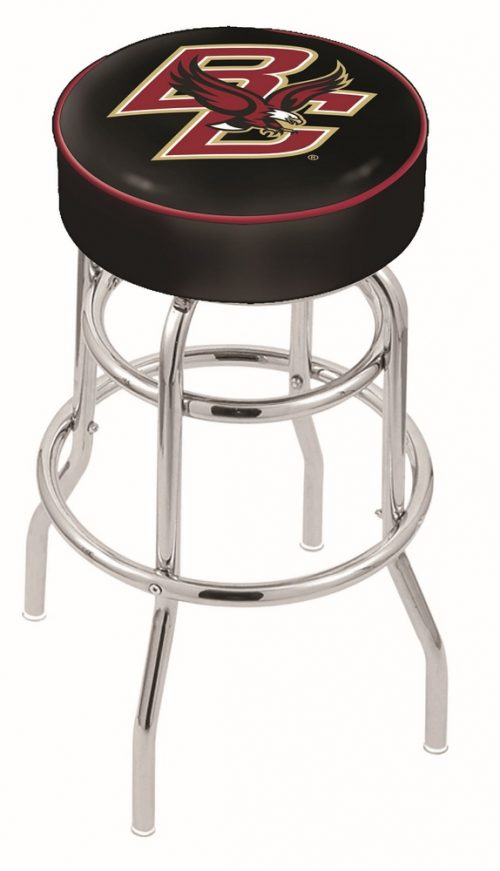 "Boston College Eagles (L7C1) 25"" Tall Logo Bar Stool by Holland Bar Stool Company (with Double Ring Swivel Chrome Base)"
