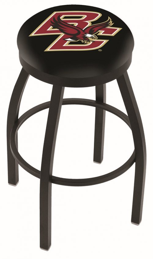 "Boston College Eagles (L8B2B) 25"" Tall Logo Bar Stool by Holland Bar Stool Company (with Single Ring Swivel Black Solid Welded Base)"