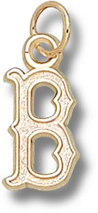 "Boston Red Sox 1/2"" ""B"" Charm - 14KT Gold Jewelry"