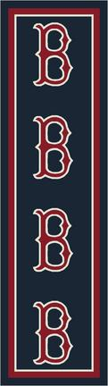 "Boston Red Sox 2' 1"" x 7' 8"" Team Repeat Area Rug Runner"