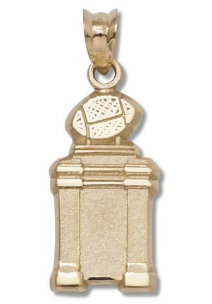 "Bowl Championship Series (BCS) Coaches' Trophy 5/8"" Pendant - 10KT Gold Jewelry"
