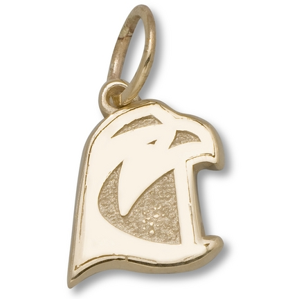 "Bowling Green State Falcons 3/8"" Falcon Head Charm - 14KT Gold Jewelry"