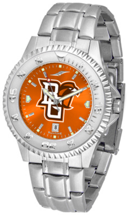Bowling Green State Falcons Competitor AnoChrome Men's Watch with Steel Band
