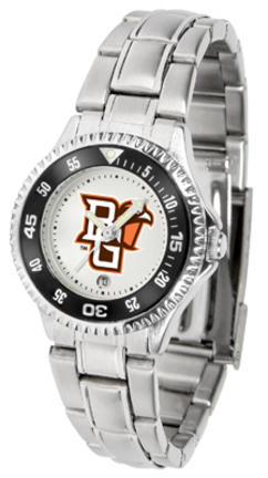 Bowling Green State Falcons Competitor Ladies Watch with Steel Band