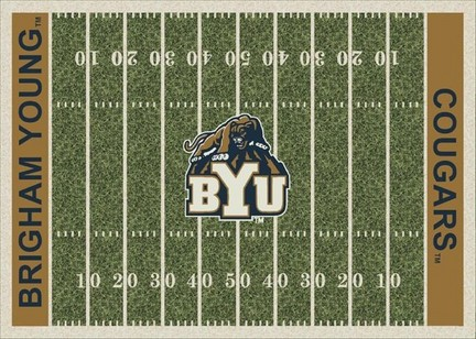 "Brigham Young (BYU) Cougars 3' 10"" x 5' 4"" Home Field Area Rug"