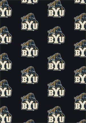 "Brigham Young (BYU) Cougars 3' 10"" x 5' 4"" Team Repeat Area Rug"