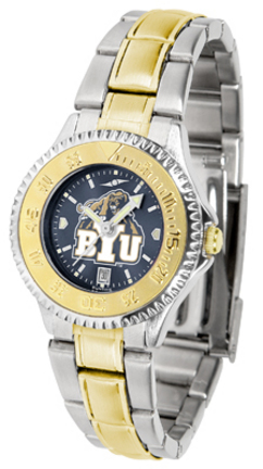Brigham Young (BYU) Cougars Competitor AnoChrome Ladies Watch with Two-Tone Band