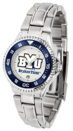 Brigham Young (BYU) Cougars Competitor Ladies Watch with Steel Band