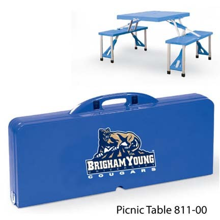 Brigham Young (BYU) Cougars Portable Folding Table and Seats