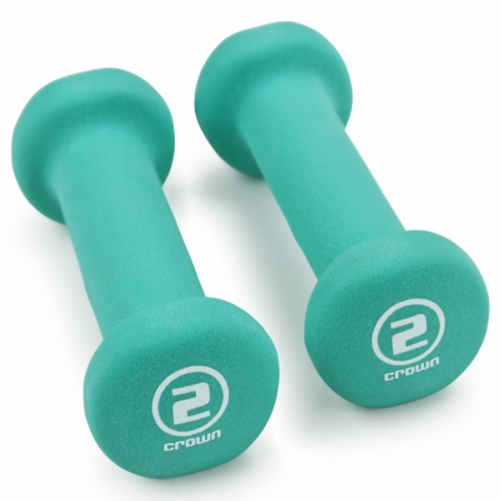 Brybelly Holdings SWGT-002 Pair of 2 lbs Teal Neoprene Body Sculpting Hand Weights