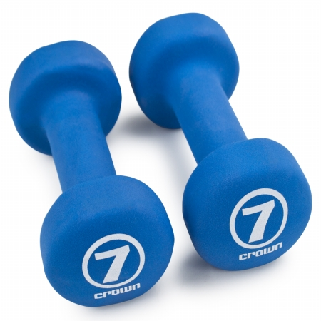 Brybelly Holdings SWGT-005 Pair of 7 lbs Royal Blue Neoprene Body Sculpting Hand Weights