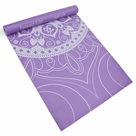 Brybelly Holdings SYOG-077 3 mm Lilac Premium Printed Yoga Mat