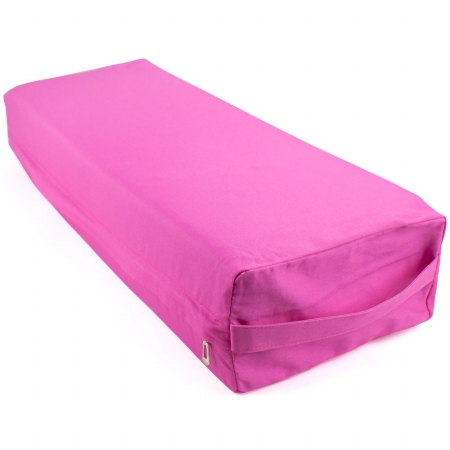 Brybelly Holdings SYOG-572 26 in. Yoga Bolster & Meditation Pillow Pink - Large