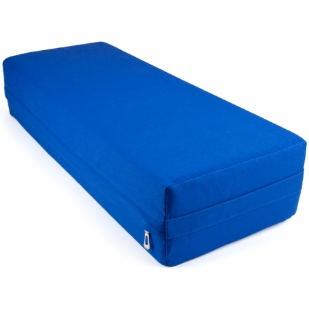 Brybelly Holdings SYOG-574 26 in. Yoga Bolster & Meditation Pillow Blue - Large