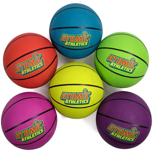 Brybelly SBAL-401 6 Regulation Size Neon Basketballs