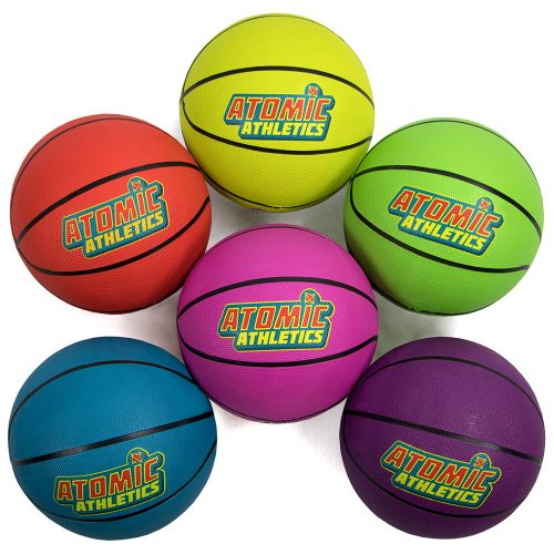 Brybelly SBAL-402 6 Youth Size Neon Basketballs