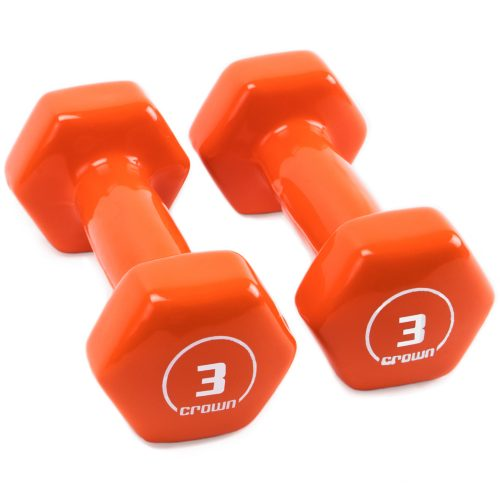 Brybelly SWGT-803 3 lbs Vinyl Hex Hand Weights