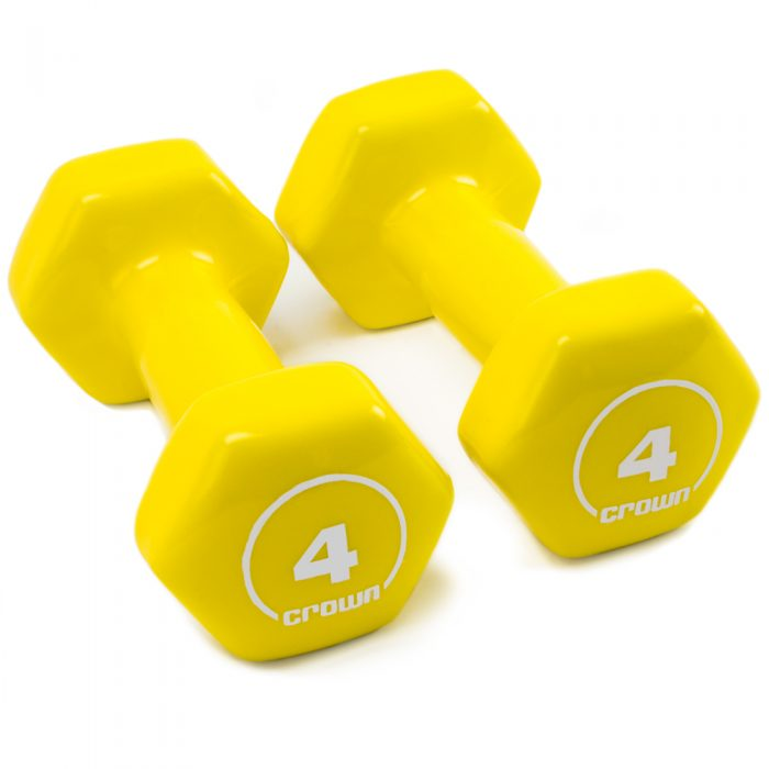 Brybelly SWGT-804 4 lbs Vinyl Hex Hand Weights