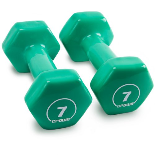 Brybelly SWGT-806 7 lbs Vinyl Hex Hand Weights