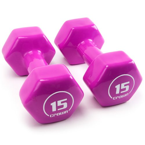 Brybelly SWGT-809 15 lbs Vinyl Hex Hand Weights