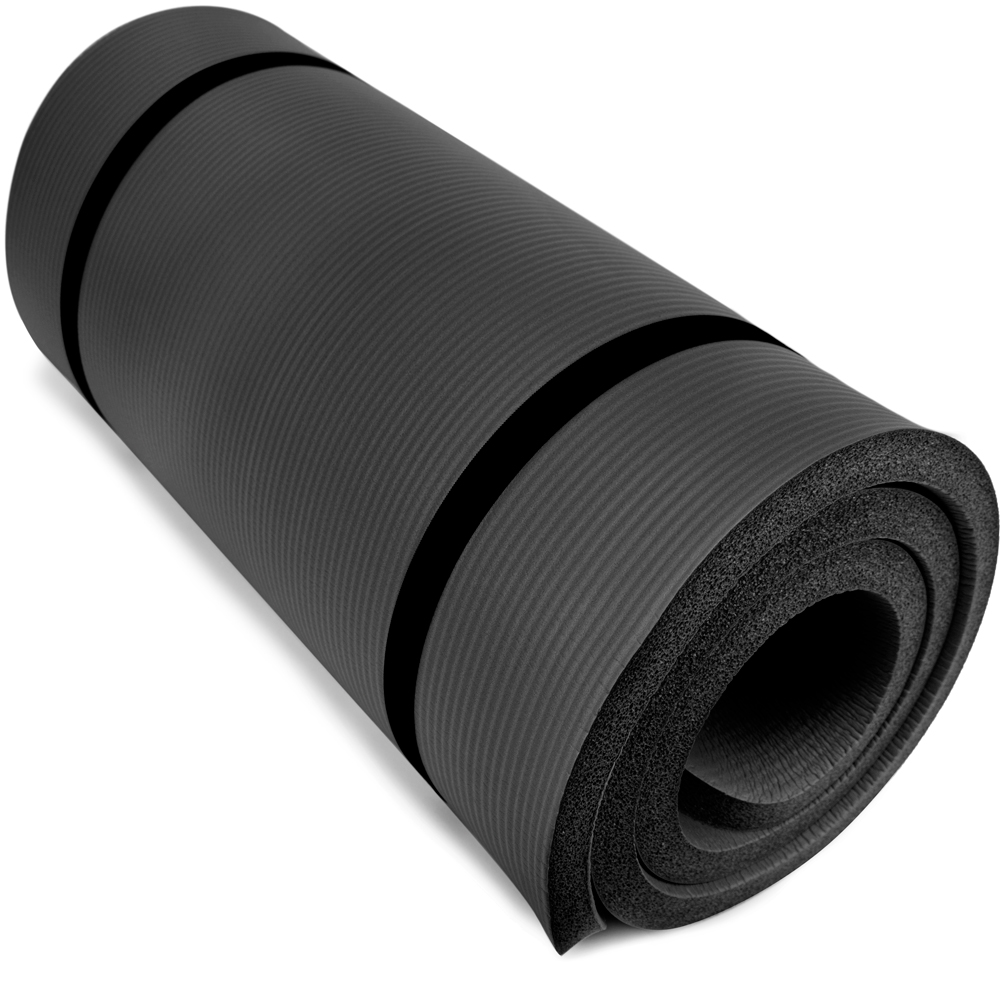 Brybelly SYOG-091 Ultra Thick 1 in. Yoga Cloud Black