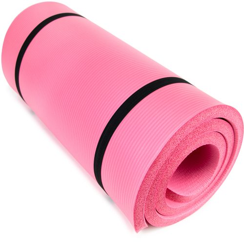 Brybelly SYOG-092 1 in. Ultra Thick Yoga Cloud Pink