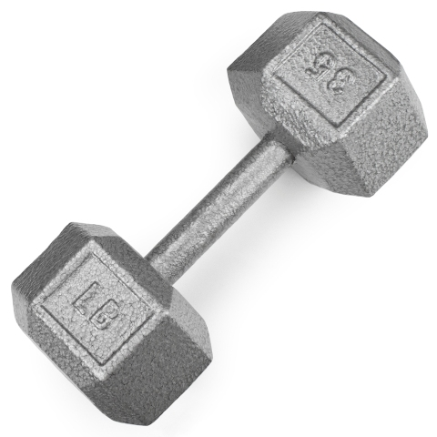 BrybellyHoldings SWGT-308 35 lbs. Cast Iron Hex Dumbbell