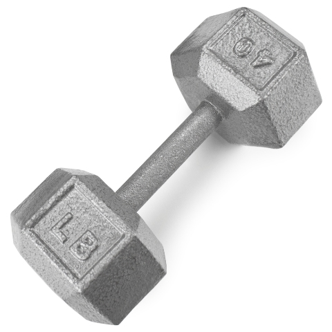 BrybellyHoldings SWGT-309 40 lbs. Cast Iron Hex Dumbbell