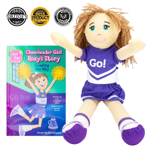 BrybellyHoldings TDBT-06 Cheerleader Girl Roxy Read & Play Doll And Book Set