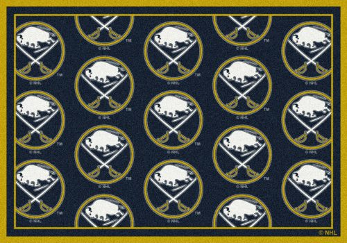 "Buffalo Sabres 2' 1"" x 7' 8"" Team Repeat Area Rug Runner"
