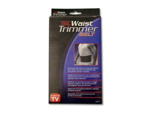 Bulk Buys GM227-48 Black Waist Trimmer Belt In A Hanging Box - Case of 48