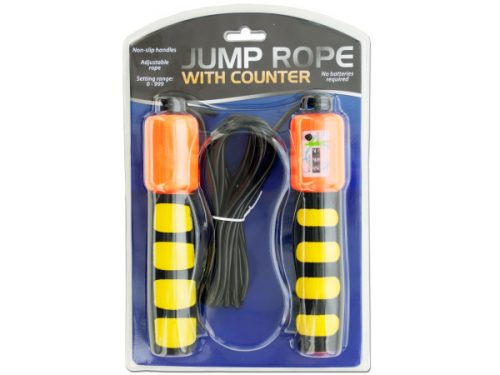 Bulk Buys OF360-15 Jump Rope with Counter Non-Slip Handles 15 Piece