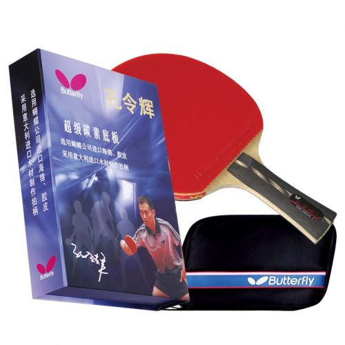 Butterfly Kong Linghui Flared Shakehand Table Tennis Paddle and Case