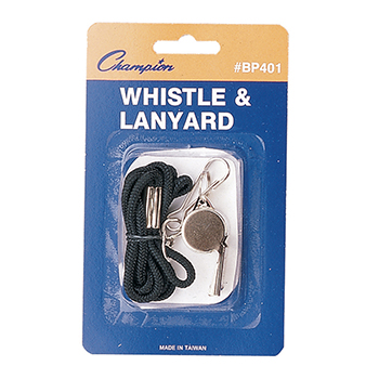 CHAMPION SPORTS CHSBP401 WHISTLE WITH LANYARD