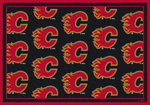 "Calgary Flames 2' 1"" x 7' 8"" Team Repeat Area Rug Runner"