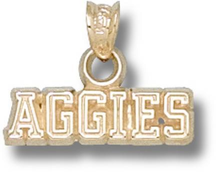 "California (Davis) Aggies ""Aggies"" Pendant - 10KT Gold Jewelry"