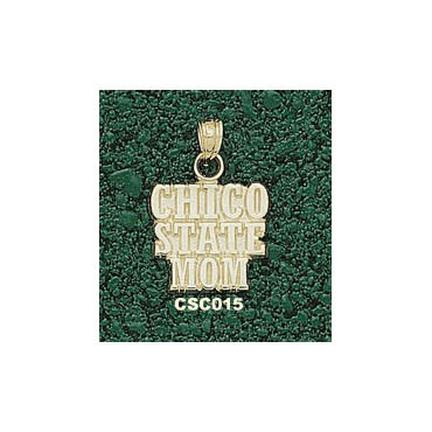 "California State (Chico) Wildcats ""Chico State Mom"" Pendant - 10KT Gold Jewelry"
