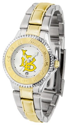 California State (Long Beach) Dirtbags Competitor Ladies Watch with Two-Tone Band