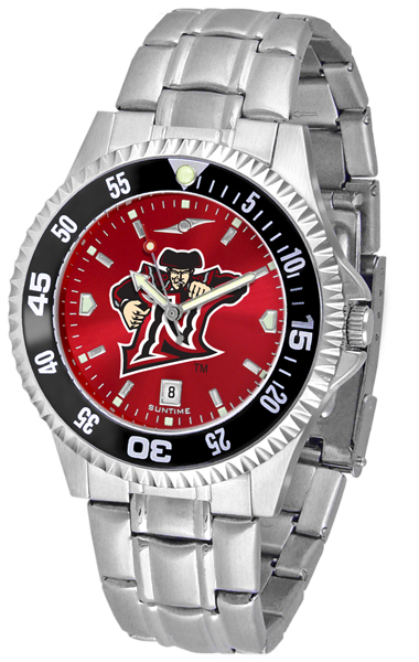 California State (Northridge) Matadors Competitor AnoChrome Men's Watch with Steel Band and Colored Bezel