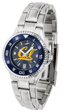 California (UC Berkeley) Golden Bears Competitor AnoChrome Ladies Watch with Steel Band and Colored Bezel