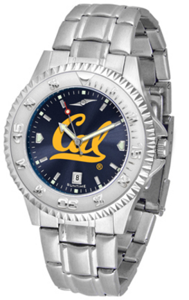 California (UC Berkeley) Golden Bears Competitor AnoChrome Men's Watch with Steel Band