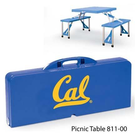 California (UC Berkeley) Golden Bears Portable Folding Table and Seats